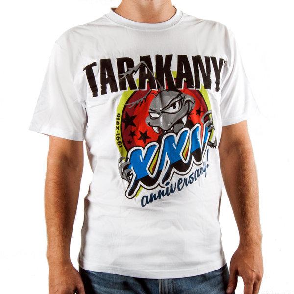 """Тараканы!"": белая футболка ""XXV Anniversary"""