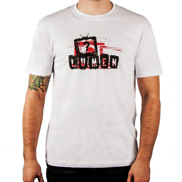 """Lumen: белая футболка с лого альбома """"Правда?"""""""