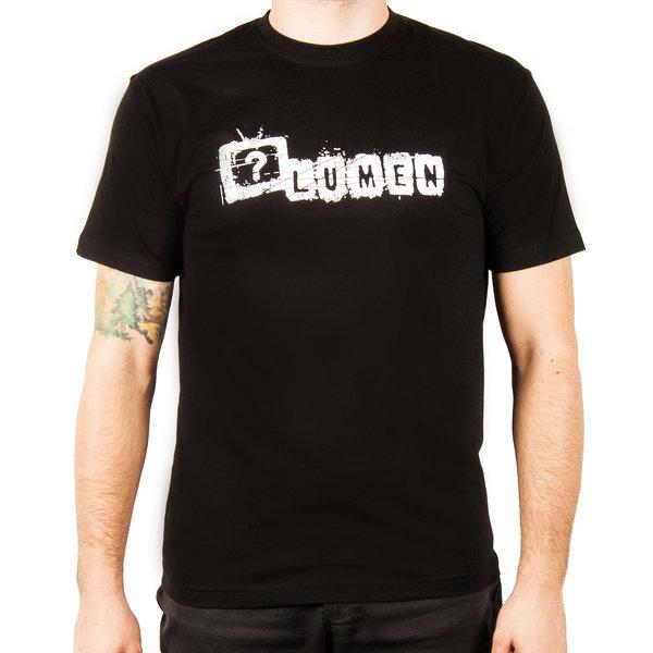 """Lumen: черная футболка с лого альбома """"Правда?"""""""