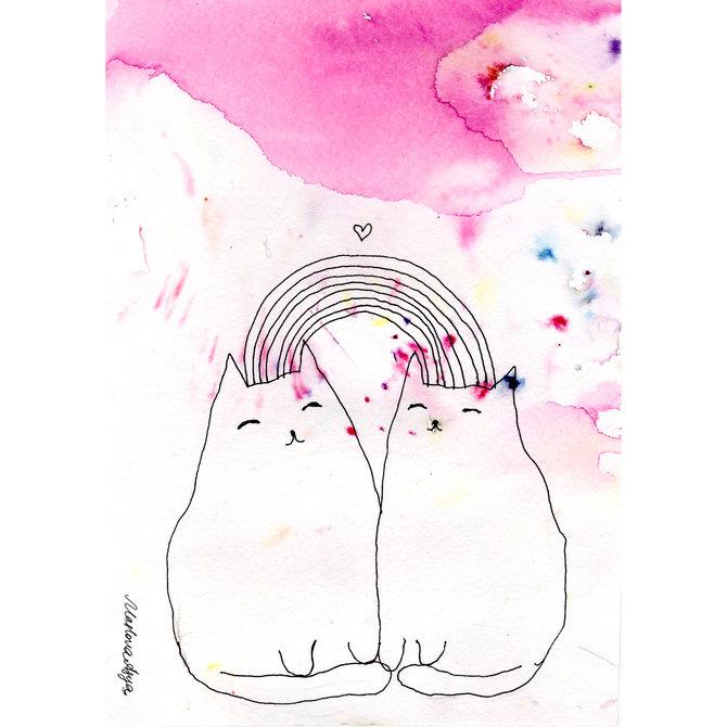 Набор открыток «Звери» от Аси Масловой