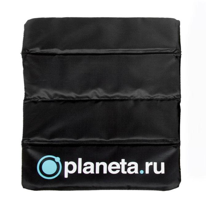 Складная туристическая сидушка с логотипом Planeta.ru