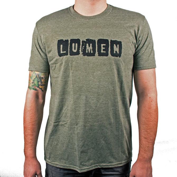 Lumen: футболка хаки с логотипом группы