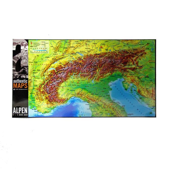 3D карта Альпийских гор