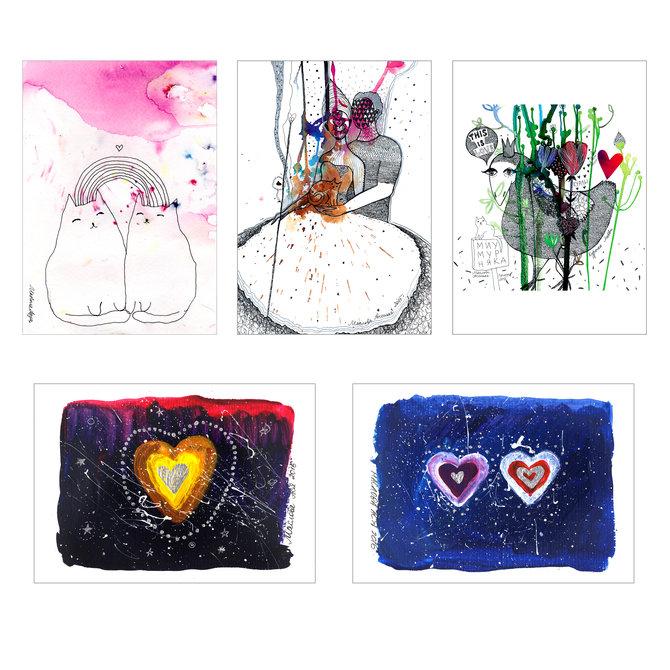 Набор открыток «О Любви» от Аси Масловой