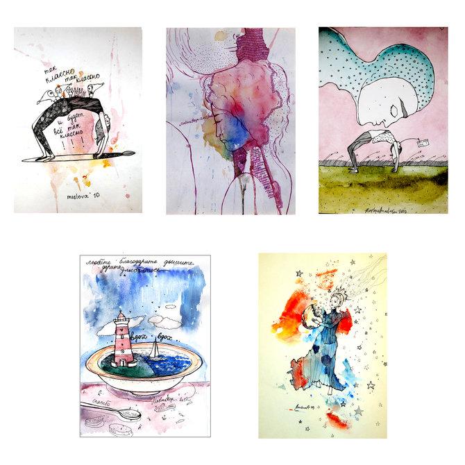 Набор открыток «Такие классные» от Аси Масловой